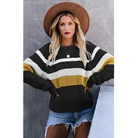 McKayla Striped Pullover Sweater