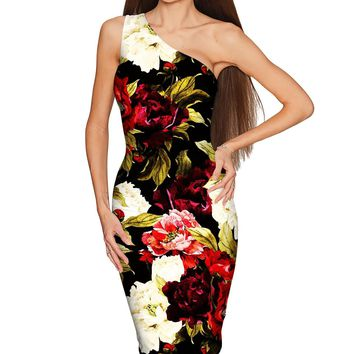 Put Your Crown On Layla Black Floral Evening Dress