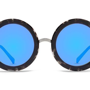 VonZipper - Fling Black Tortoise Sunglasses / Blue Chrome Lenses