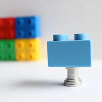 Kids Drawer Knobs made with Toy Brick in Light Blue (TK03)