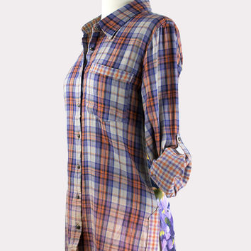 Marsielle Plaid Shirt in Copper