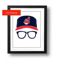 Major League Wild Thing Ricky Vaughn Silhouette Minimalist Movie Poster Cleveland Indians Wall Art Gift