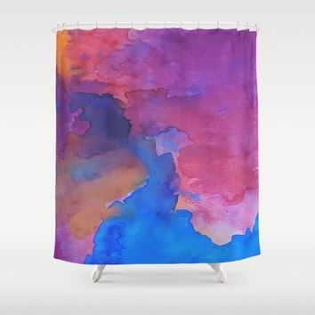 Close Your Eyes Shower Curtain by DuckyB