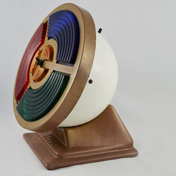 Vintage Rotating Color Wheel Spotlight for Aluminum Christmas Trees - Mid Century, Retro Holiday