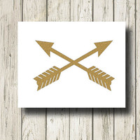 Arrows Golden Quotes and Signs Digital Art Print Wall Art Home Decor G010