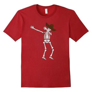 Dabbing Skeleton Cinco de Mayo T Shirt Kids Adult Costume