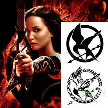 Waterproof Temporary Tattoo sticker the hunger games tattoo fly bird tatto stickers flash tatoo fake tattoos for men women girl