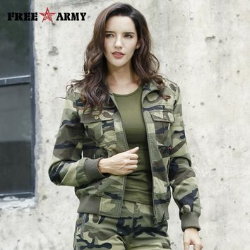 Trendy New Autumn Women's Outerwear & Coats Military Camouflage Jackets Cotton Denim Jacket for Women Bomber Jackets Female Plus 3XL AT_94_13