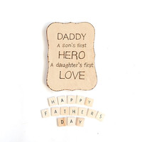 Gifts for Men. Wooden sign. Daddy and father plaque.