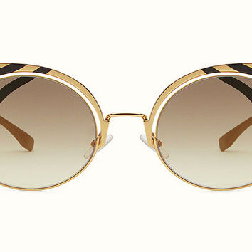 Fendi -  Hypnoshine 0215/S Gold Finish Metal Sunglasses