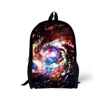 Fashion 16 inch Children Backpack Galaxy Space Travel Satchel Bag Backpack Kids School Book Bag Men's Campus Rucksack