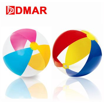 DMAR 41cm Inflatable Beach Ball Pool Water Ball For Kids Adult Pool Float Toys Swimming Ring Circle Handball Inflatable Mattress