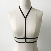 Elsa Harness S-XL, Black or White