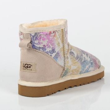 UGG 2018 winter new snow boots female non-slip winter thick warm snow boots