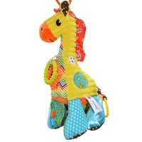 Sozzy Giraffe Plush Toys Corduroy cloth Rattles Hanging Mirrow Dolls Hooked Dolls HangingRing Bed Stroller Children's Plush Toys