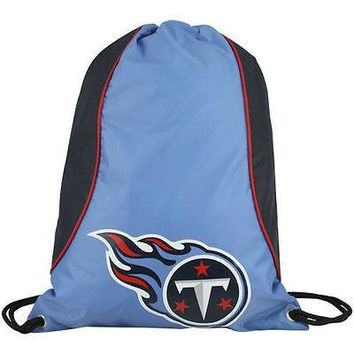 NFL Tennessee Titans Axis Backpack Cinch String Bag Tote Drawstring Pouch Sling