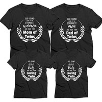 Mom of twins shirt, Dad of twins shirt, Mommy daddy shirts, Loving twin shirt, Matching twin shirts, Family shirts