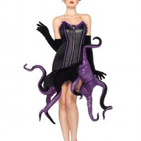 2 PC Black Purple Ursula Costume @ Amiclubwear costume Online Store,sexy costume,women's costume,christmas costumes,adult christmas costumes,santa claus costumes,fancy dress costumes,halloween costumes,halloween costume ideas,pirate costume,dance costume