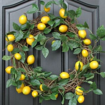 Lemon Wreath by twoinspireyou on Etsy
