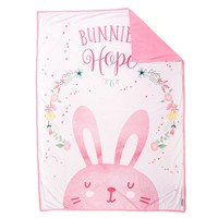 *Easter Basket* HOPE Bunny Blanket (100% Velvet)