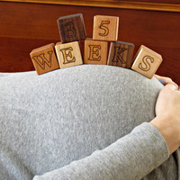 Bump & Baby Milestone Wooden Blocks