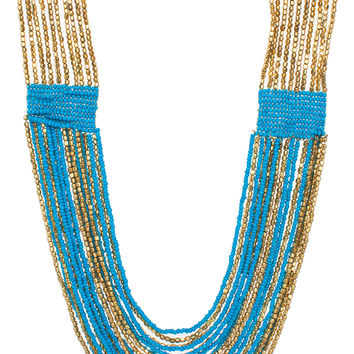 Coco Beaded Necklace - Blue