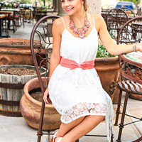 CAST AWAY LACE DRESS IN WHITE