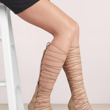 Berlin Lace Up Gladiator Heels