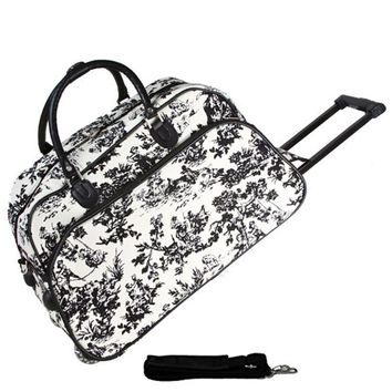 """JChronicles French Toile Print 21"""" Rolling Duffel Bags"""