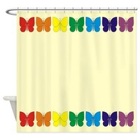 Butterflies Rainbow Shower Curtain> Butterflies Shower Curtains> Shower Curtains