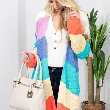 Promise Rainbow Knit Cardigan