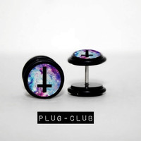 Galaxy Inverted Cross Fake Plugs by Plug-Club