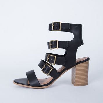 Buckle Down Heel Sandals