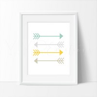 Mint + Mustard Yellow Arrows