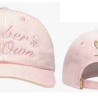 Drake OVO Octobers Very Own Pink Hat Sport Cap Strap Back Cap Men Women Gold Owl Denim Trucker Hat