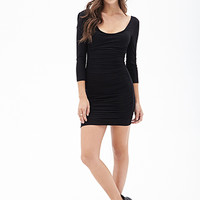 FOREVER 21 Ruched Knit Sheath Dress