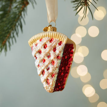Cherry Pie Glass Ornament