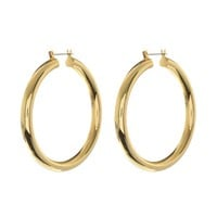 Amalfi Tube Hoops- Gold (Ships Mid December)