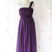 Shes The Prom Queen ll - Gorgeous Purple Gown Dress Prom Party Wedding Cocktail Night Dress Delicate Feminine Dress Floral Hand Sewn