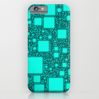 Electronics Blue iPhone & iPod Case by Alice Gosling