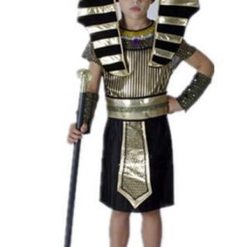 Children Egyptian Pharaoh Costumes 2017 New Cosplay masquerade Halloween childen kid costume Egyptian pharaoh Cleopatra royal