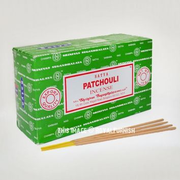 Satya Patchouli Incense Sticks 180 Gram Set of 12 Boxes of 15 Gram on RoyalFurnish.com