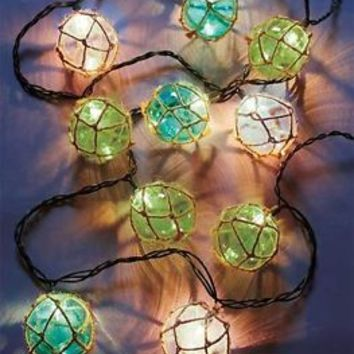 Vintage Style Float String Lights Seaside Beach Nautical Theme Porch Patio Deck