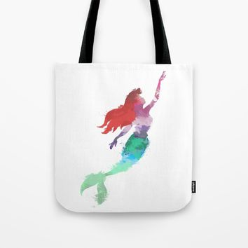 Ariel Little Mermaid Tote Bag by Xiari