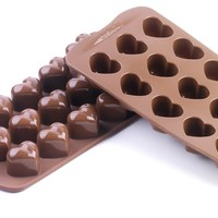 Silikomart Silicone Easy Chocolate Mold, Hearts