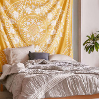 Sketched Floral Medallion Tapestry | Urban Outfitters