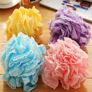 Multi-color Mesh Flower Shower Sponge