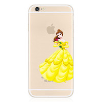 Disney Princess - Beauty and the Beast Belle Clear Transparent Case For Apple Iphone 6/6s PLUS (5.5-Inch)