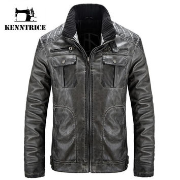 Style Winter Leather Jacket Men