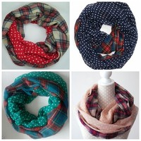 Aliexpress.com : Buy 2015 New Fashion Navy /Red/Beige/Green Color Dotted and Plaid Check Infinity Scarf Snood Scarves For Women /Ladies Free Shipping from Reliable scarf suppliers on Yiwu Fashion Accessories store   Alibaba Group